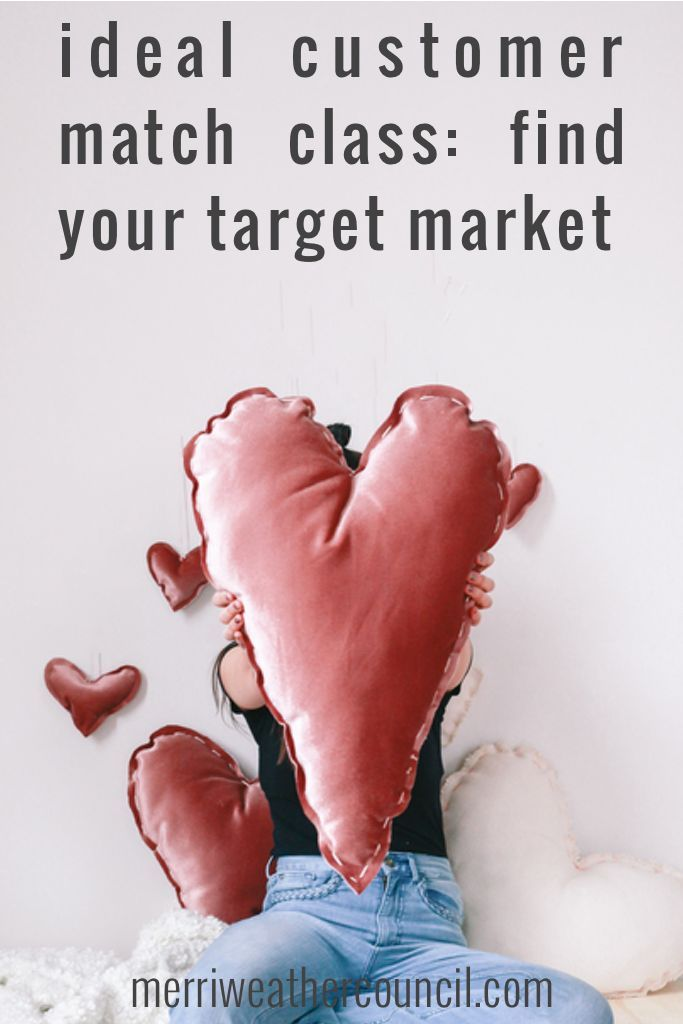 Finding you target market is wildly misunderstood, often avoided, hurl inducing and generally a super lamefest that ends with frustration and no results. Why? Because classic target market exercises have you create a profile of the person you think you serve. Take this Ideal Customer Match Class  to find the best for you! #merriweathercouncil #customermatch #marketingtips #handmadebusinesstips