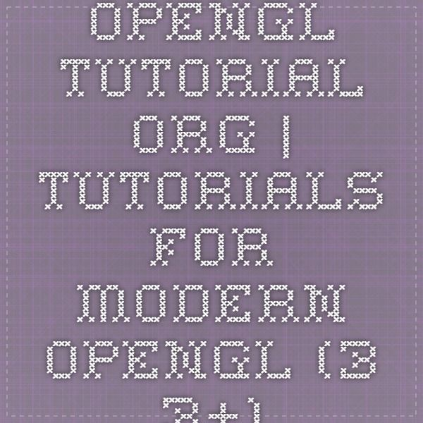 opengl-tutorial.org | Tutorials for modern OpenGL (3.3+)