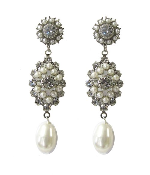 Ti Adoro-Swarovski Vintage Pearl Chandelier Earrings