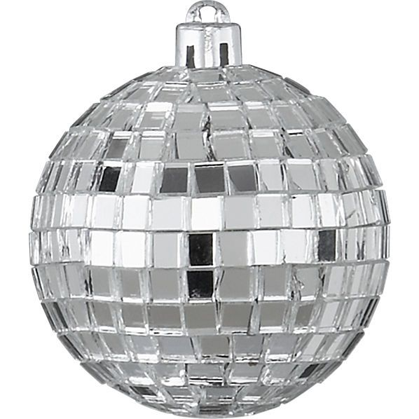 STOCKING STUFFERS   Disco Ball Silver Ornament from CB2 $1.95