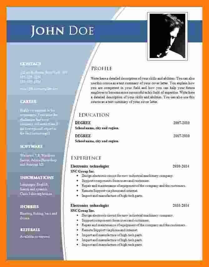 Download Resume Format In Word 2007 Colonarsd7 In 2020 Resume Template Word Resume Template Examples Resume Template