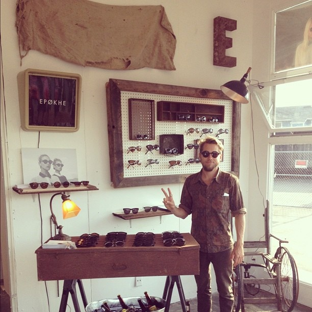 Surfer Owned Epokhe Eyewear, casual merchandising approach..