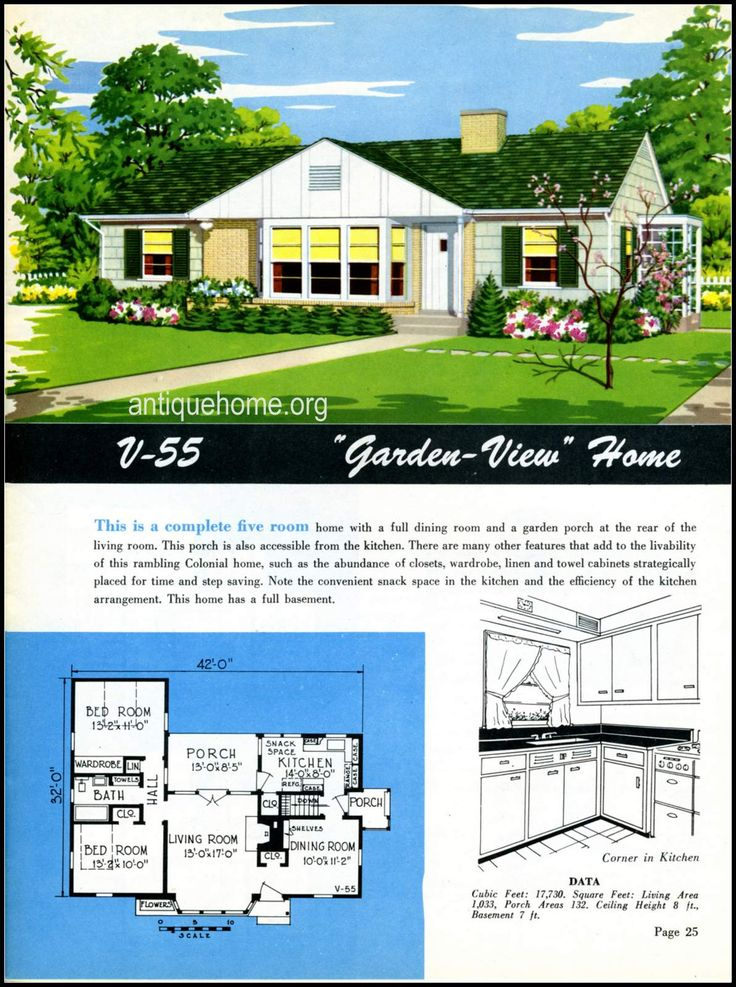 1949 Ranch Style Homes From National Plan Service And Husplaner Layouts
