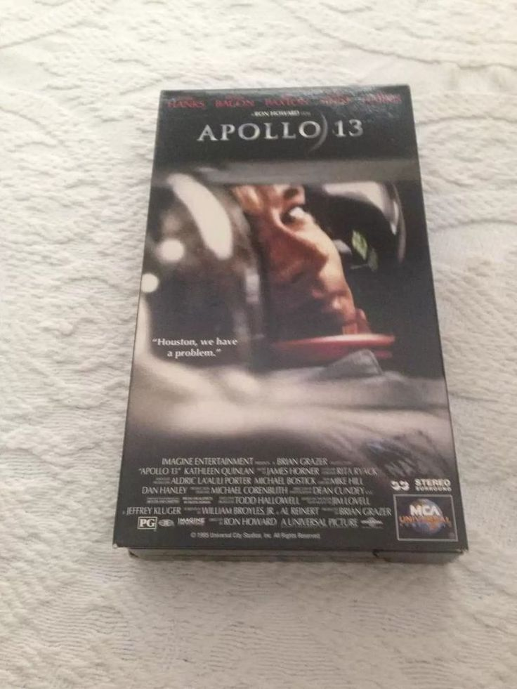 Apollo 13 1995 Kathleen Quinlan James Horner PG Action Adventure NTSC VHS Video