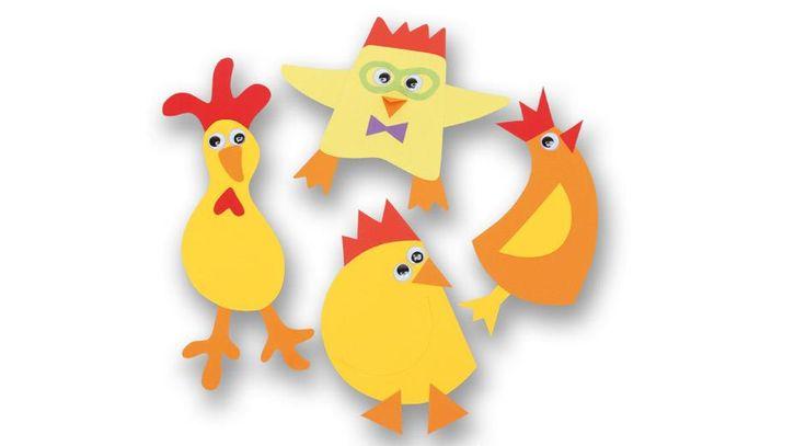 Påskeklip er hyggeligt. Her får du inspiration og  vejledning til nogle lidt anderledes og skøre  kyllinger.