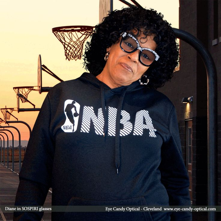 Diane in her new luxurious designer glasses by Sospiri is the sparkiest basketball fan.  Eye Candy wins in eyewear game and loves the sparkle of the Finest European Eyewear Fashion! Eye Candy Optical Cleveland – The Best Glasses Store! (440) 250-9191 - Book an Eye Exam Online or Over the Phone  www.eye-candy-optical.com