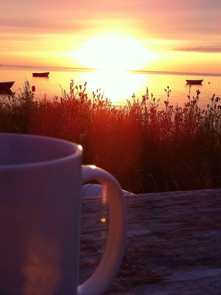 Sunset Havnsø, East part of Denmark