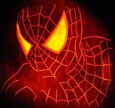Image result for spiderman pumpkin stencil