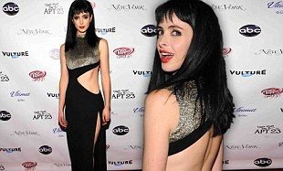 Krysten Ritter steals the limelight from her co-stars as she flashes her figure in daring black dress | Daily Mail Online