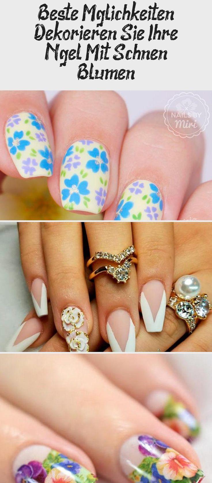 Beste Optionen Dekorieren Sie Ihre Nägel mit schönen Blumen   – Nagel