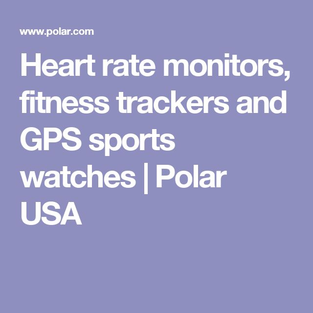 Heart rate monitors, fitness trackers and GPS sports watches | Polar USA