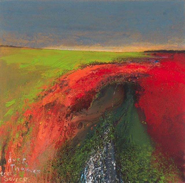 Dusk,Thames, Trickle, Source. 2005 Mixed Media on Canvas 122 x 122 cm