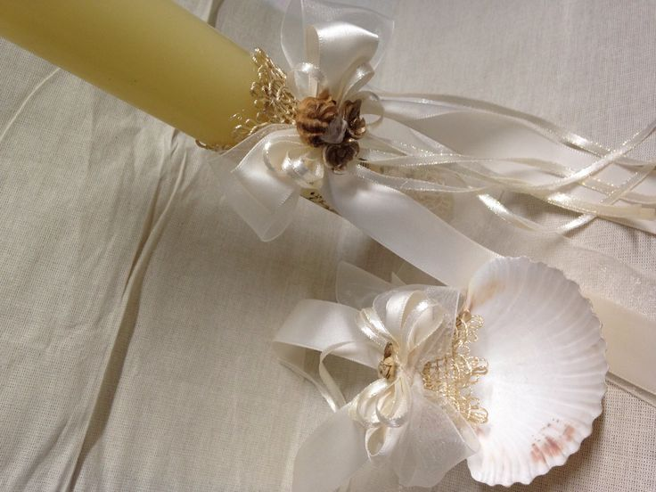 Vela y concha para bautizo velas para primera comunion - Velas decoradas para bautizo ...