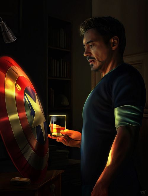 I wonder if he just stares at it now in the avengers compound. What's he thinking? How he hate Steve for lying? Or how he hates himself for losing a friendship?