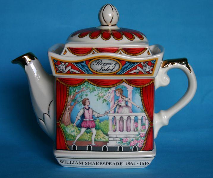 Robely throw back --- Sadler Romeo & Juliet Teapot.