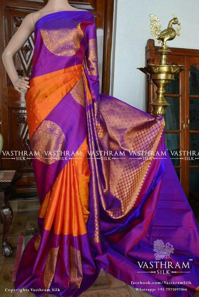 Kanchipuram silk Cost 15500 Whatsapp 91 7019277192