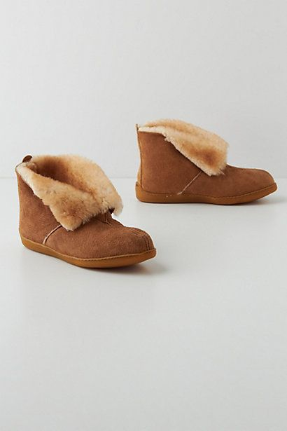 Sheepskin Slipper Booties #anthropologie