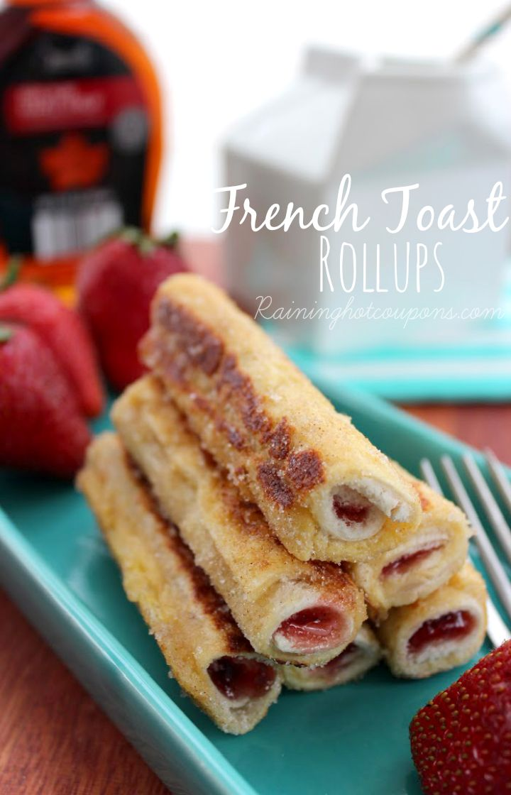 Stuffed French Toast Rollups - These are DELICIOUS!!