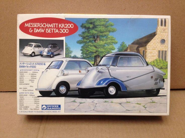 Messerschmitt Kr200 Amp Bmw Isetta 300 1 24 Model Kit Gunze Japan Rare Estate Bmw Isetta