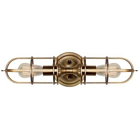 "Feiss Urban Renewal 20 1/4"" High Dark Antique Brass Sconce - #3J715 | LampsPlus.com"