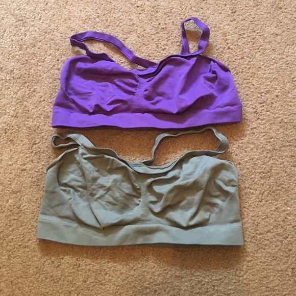BUNDLE BARELY THERE BRAS Like new condition - never worn. One purple & one gray, both XL.  Make an offer or bundle to save 20%  Barely There  Intimates & Sleepwear Bras