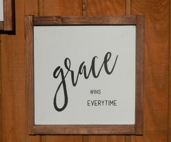 grace wins everytime wood sign by urbancreekgifts on Etsy