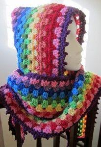 Crochet Harlequin Hooded Cowl 1