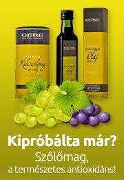 Kipróbálta már? Isteni GERE szőlőmag termékek a Vitaldeponál.