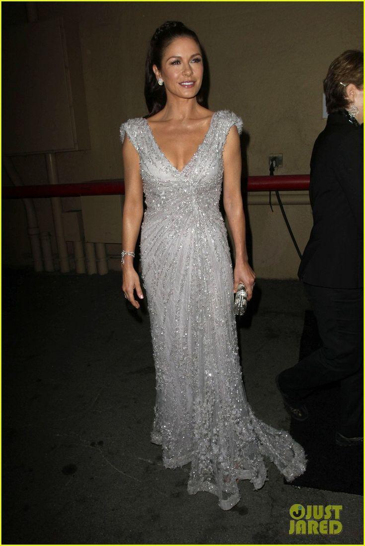 Catherine Zeta Jones: Fine Romances, Dresses Grey, Length Celebrity, Glamour Dresses, Celebrity Dresses, Floors Length, Famous Celebrity, Catherine Zeta Jones, Michael Douglas