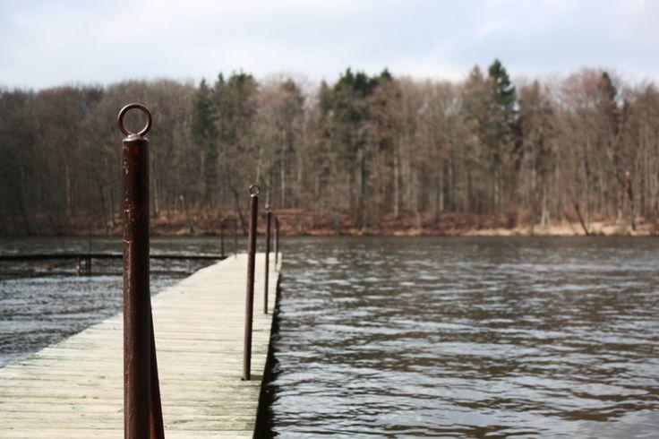 Pomost nad jeziorem Raduń #Wałcz