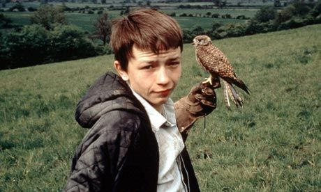 """""""None of us had kestrels, but we all related to the film. Most fictional kids we'd seen on the telly were posh and public-school, like Tom Brown. But Kes wasn't about privilege – just the opposite. Working-class boys speaking in working-class accents, and sometimes muttering so much that you couldn't make out what they were saying. The language was colloquial, the film was lit like the real world, the actors didn't look like actors."""" (Review of Ken Loach's Kes)"""