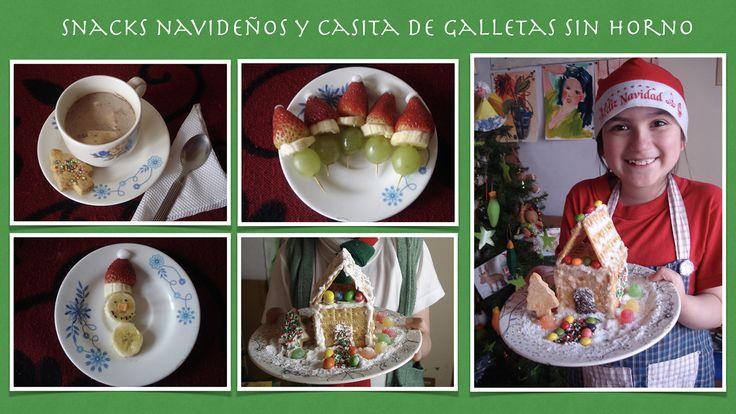 Snacks Navideños y Casita de Galletas sin Horno