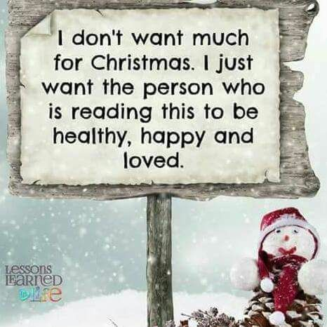 I don't want much....