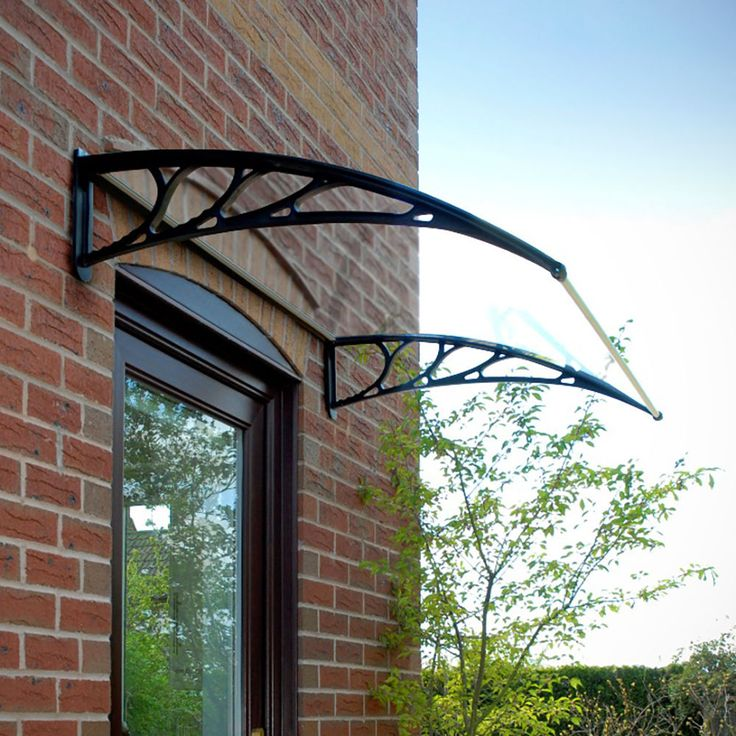 Door Canopy Awning Shelter Roof Front Back Porch Outdoor Shade Patio Black White & 41 best Door canopy images on Pinterest | Door canopy Canopies and ...