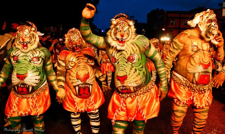 Udupi style. ..tiger dance