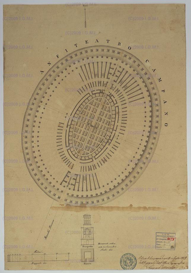 Anfiteatro Campano disegni 1829