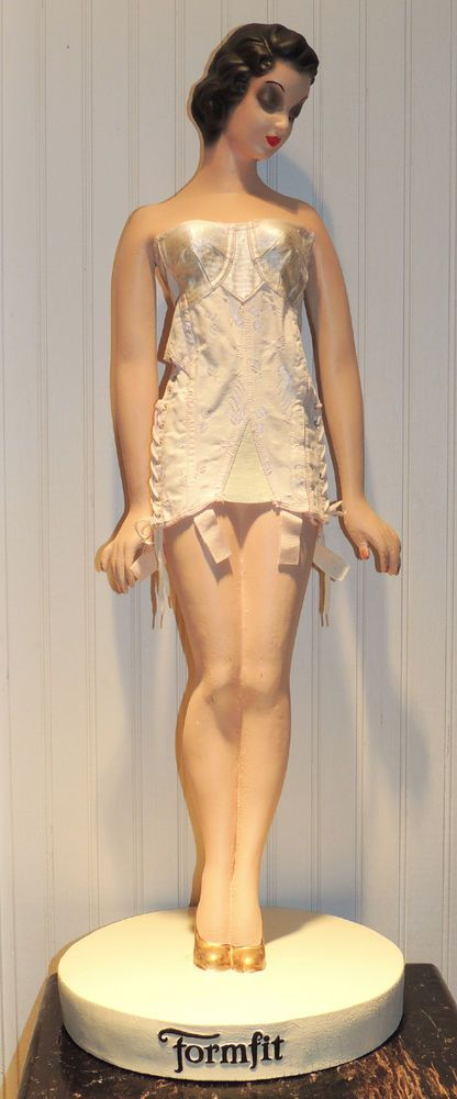1930's FORMFIT GIRDLE GIRL ADVERTISING FIGURE STORE DISPLAY MANNEQUIN! VINTAGE!