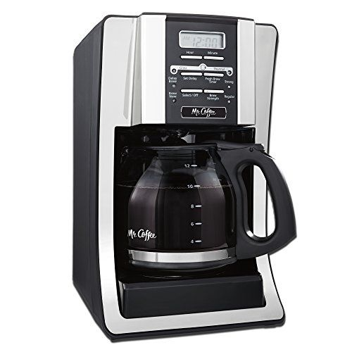 Jarden MrC 12c CoffeeMakerMr. Coffee 12-Cup, Programmable Coffee Maker, Compatible with glass or stainless steel carafe (#DRD95)Pause n Serve, Removable Filter Basket, 2-Hour Auto Shut-off, Fresh Brew Timer, Brew Strength Selector, Water Filtration, On/Off Audible Ready Signal,Water Window, On/Off Indicator Light, Cord Storage, Black
