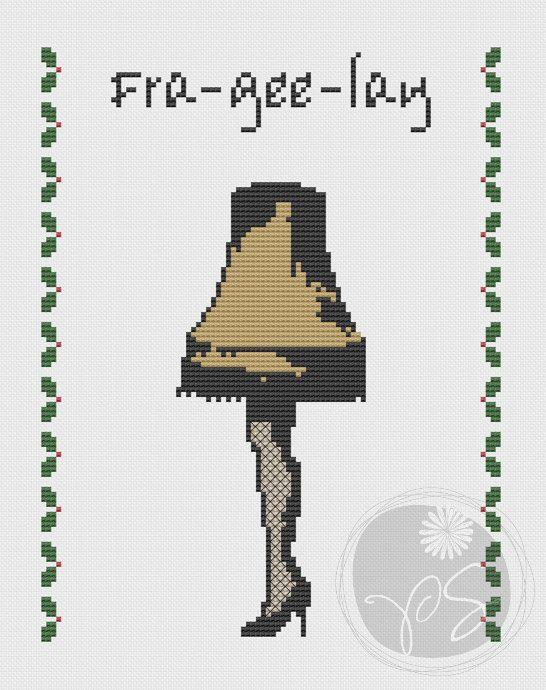A Christmas Story Leg Lamp - Printable PDF Pattern on Etsy, $3.50 CAD
