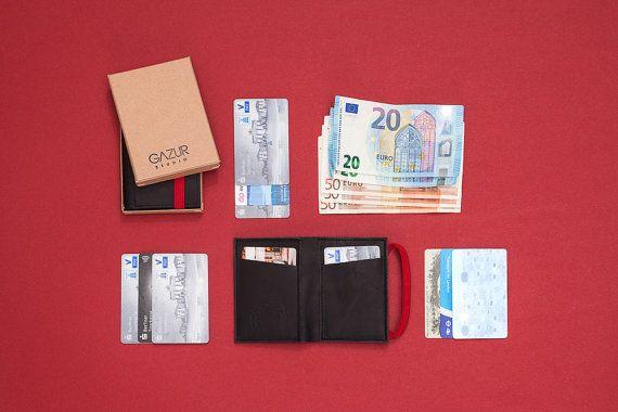 Slim Leather Wallet Minimalist Wallet Leather Wallet Slim
