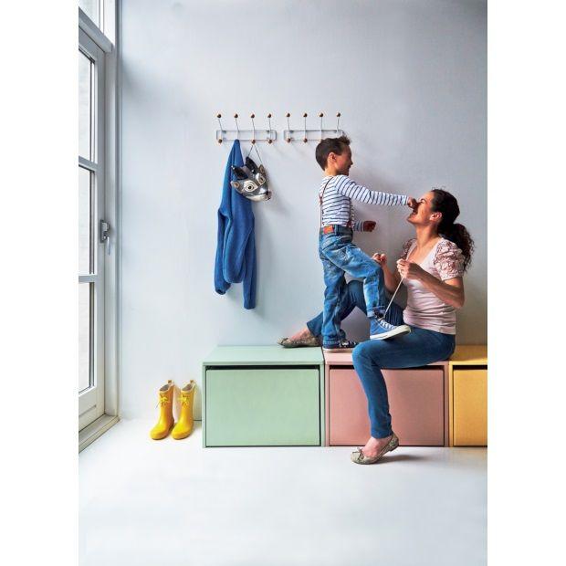 Flexa Kids Opbergbank 3 in 1 60x47 cm - Mint - afbeelding 2