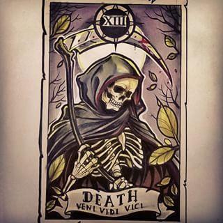 New #tarotcard #design ready for Saturday #tarot #death #skeleton #grim #grimreaper #reaper #scythe #card #tattoo #tattoos #tattooart #tattoodesign #illustration #art #neotraditionals #neotraditional #neotrad #newtraditional #tattooist #Birmingham #uk