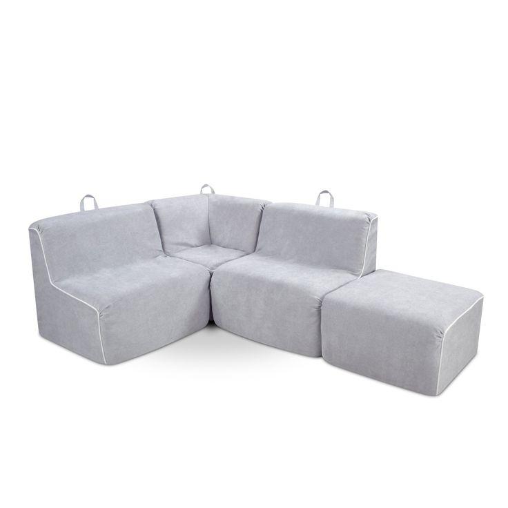 Kangaroo Trading Kids 4 Piece Upholstered Sectional Sofa