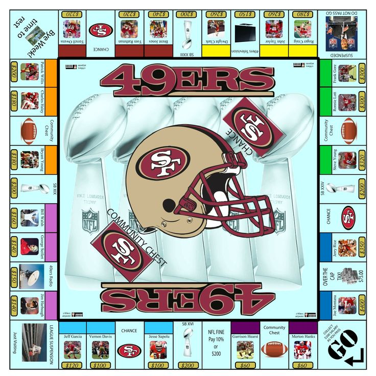 SF 49ers Monopoly Game :)