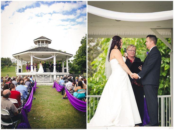 Mission Wedding Photographer - Heritage Park - Candice Victoria Photography #purple #white #gazebo