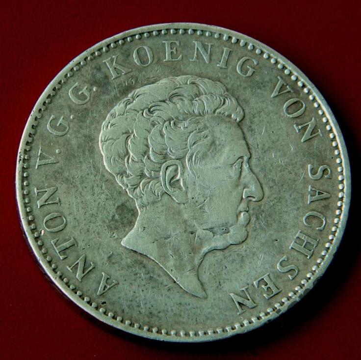 Талер 1832 S Саксония Антон V СЕРЕБРО Taler Sachsen Anton V