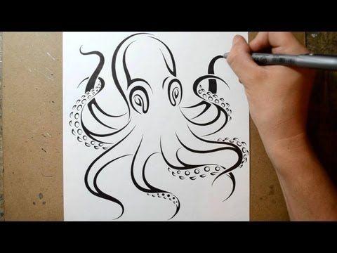 how to draw an octopus art hub