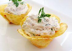 yetur'la lezzet kareleri: çiçek şeklinde -cips tadında patates çanakları