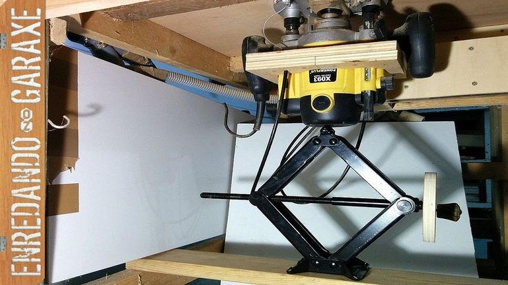 Sencillísimo sistema de elevación para mesa fresadora