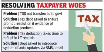 Govt looks to ease TDS problems  The government is looking to ease the problems related to tax deducted at source (TDS), which are faced by thousands of taxpayers for no fault of theirs. A lot of taxpayers have complained that often tax is deducted by their vendors or employers but not transferred to the government, resulting in a lot of harassment as refunds can't be processed  For More......: http://bangalore5.com/generalnews/2016/07/19/govt-looks-to-ease-tds-problems/